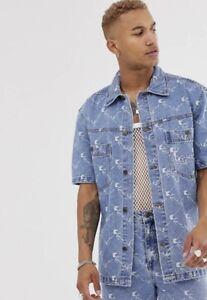 Karl Kani BNWT Blue Oversized Denim Shirt Size L