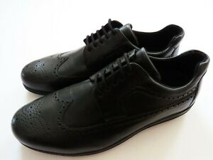 BALLY Black Wingtip Brogue Leather Sneakers Shoes Size 12 US 45 Euro 11 UK