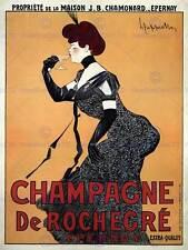 COMMERCIAL ADVERT CHAMPAGNE ALCOHOL ROCHEGRÉ FRANCE POSTER ART PRINT BB1726B
