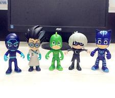 official 5pcs PJ Masks Catboy Owlette Gekko Cloak Action Figures Kids Toy Set