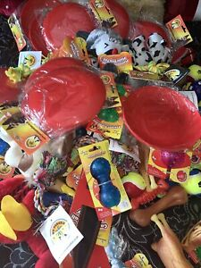 25 X Bundle Selection Job Lot Dog Puppy Squeaky Rope Balls Rubber Vinyl Dog Toys