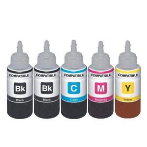 5 Ink Bottle Refill For Epson 104 EcoTank ET-2710 ET-2711ET-2712 ET-2714