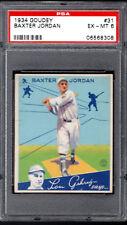 1934 Goudey #31 BAXTER JORDAN Boston Braves sharp/centered Graded PSA 6++