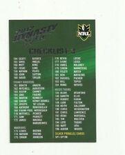 2012 NRL SELECT DYNASTY CHECKLIST 3 COMMON BASE # 3 CARD
