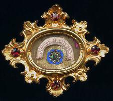old relic theca  S.AMBROSII EP. MEDIOLANUM DOCT. 19Th.