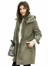 NWT BANANA REPUBLIC HOODED MILITARY WOMEN'S PARKA JACKET COAT S