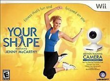 Wii YOUR SHAPE Jenny McCarthy PERSONAL TRAINER W/CAMERA