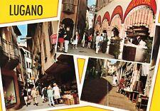 Postcard Lugano City Street Views Switzerland CHE Multiview Ephemera