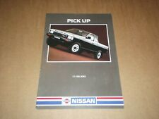 CATALOGUE NISSAN PATROL PICK UP 1987.