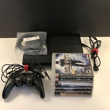 Sony Playstation 3 PS3 Super Slim 500 GB + Controller & 6 Call Of Duty games