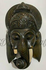 Original Wood Sculpture Statue Hand Carved Elephant Lucky Home Art Deco !