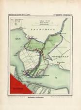 Antique Map-NETHERLANDS-TOWN PLAN-BUIKSLOOT-NOORD HOLLAND-Kuyper-Kuijper-1865