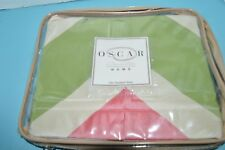 New Oscar de la Renta Home Camellia Standard Pillow Sham Brand New Chevron