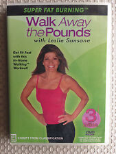 WALK AWAY THE POUNDS with LESLIE SANSONE ~ AS NEW DVD ~ ALL PAL REGIONS