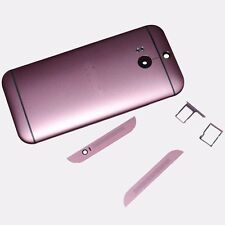Pink For HTC One M8 Battery Back Door + SIM SD Card Holder + Top Bottom Cover