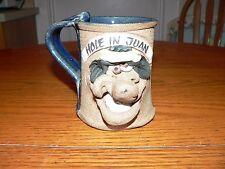 """Hole in Juan"" Funny Stoneware Coffee Face Mug~Golf Humor"