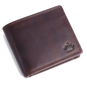 Portemonnaie Herren Geldbörse Börse Geldbeutel Echt Leder RFID Schutz MANZA® NEU