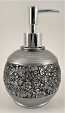 Silver Mosaic Hand Soap/Lotion  Pump Dispenser  Countertop