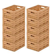 10 Stk Obst- Gemüsekiste Klappbox Apfelkiste Lagerkiste 400x300x165mm Gastlando
