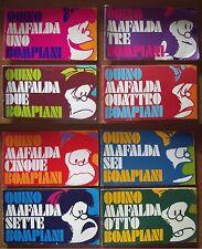 Mafalda strisce I edizione completa 1-8 Bompiani 1974
