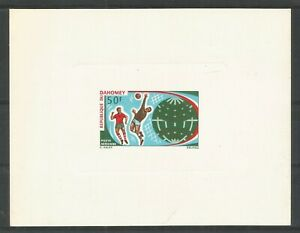 DAHOMEY 1970 Soccer World Cup Mexico 50F Proof in issued colour on glazed card.