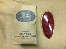 1938,1939 Ford car NOS red glass Tear Drop tail lamp, light lens 81A 13450, NIB