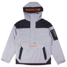 Columbia Men's New Challenger Nylon Waterproof Pullover Jacket  GREY - BNWT