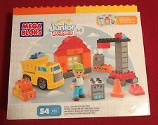 Mega Bloks Junior Builders Cool Construction Site 54 Piece Set - NIB