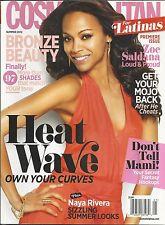 Cosmopolitan For Latinas magazine Zoe Saldana Naya Rivera Secret hookups