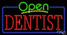 "New ""Open Dentist"" 32x17 Solid/Animated Led Sign W/Custom Options 25493"