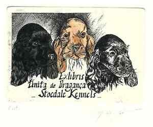 Ex Libris Bookplate Exlibris Etching Elly de Koster (1948-2015) - Netherlands