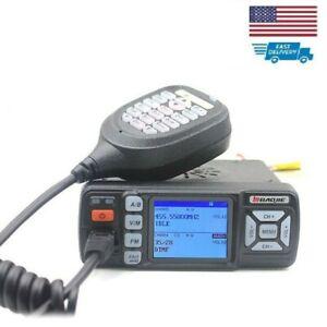 Mini Car UHF VHF Dual Band Mobile 2 Way Ham Radio Walkie Talkie BAOJIE BJ-318