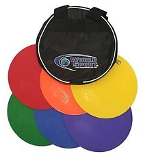 WOLRD SPORT AGILITY DOT 6 WITH BAG NONE SLIP SPOT FIELD MARKERS TRAINING FITNESS