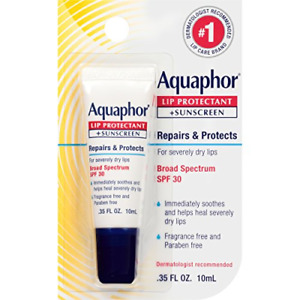 Aquaphor Lip Protectant and Sunscreen Ointment - Broad Spectrum SPF 30 - Chapped