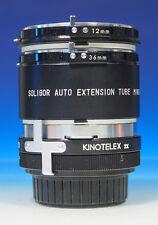 Soligor Zwischenring extension tube bagues allonge 12/36/Kinotelex 2x - (43737)