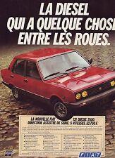 PUBLICITE ADVERTISING 034 1981 FIAT 131  diesel 2500 voiture