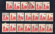 Canada #715(1) 1978 14 cent Parliament Buildings 20 Used CV$4.00