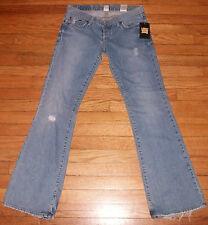 Lucky Brand Designer Jeans Blue Sz 8 34x32 Dungarees Denim Blue NWT $100 p2804