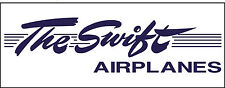 A134 The Swift Airplane banner hangar garage decor Aircraft signs