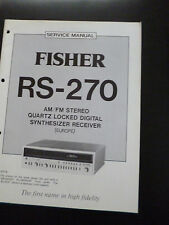 ORIGINALI service manual Fisher rs-270
