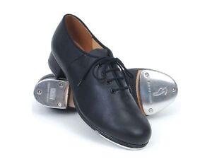 Bloch SO301L Black Leather lace up Jazz Tap Dance Shoes