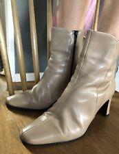Roberto Vianni Vintage Leather Ankle Boots Light Tan Size 37