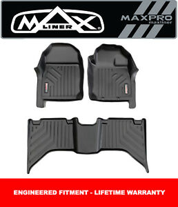 MaxPro Floor Liners For All New Mazda BT50 Dual Cab Ute 2021 + Front and Rear