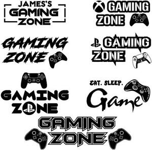 Gaming Zone Wall Sticker PERSONALISED NAME Xbox Custom Gamertag Quote Art   162