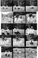 15 Stück DDR Negativ 60 mm Paar Mann Frau Wiese Natur Mode     ( 593