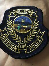 Wellston Ohio Police patch