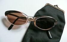 1950s France occhiali da sole vintage cat eye laminato oro