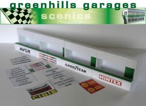 Greenhills Scalextric Slot Car Building Standard Pit Boxes Kit 1:24 Scale - B...