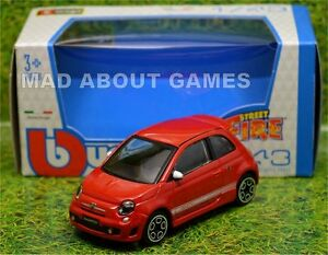 FIAT ABARTH 500 1:43 Car NEW Model Diecast Models Cars Die Cast Red