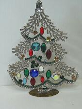 Christbaum Aufsteller Weihnachtsbaum Christmas tree Strass Gablonz Glas 19cm